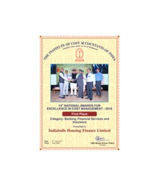 Award for 'Excellence in Cost Management'