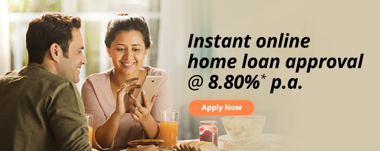 Instant online home loan approval @ 8.99%* p.a.