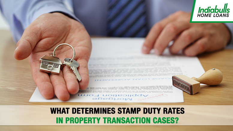 What determines Stamp Duty Rates in Property Transaction Cases?